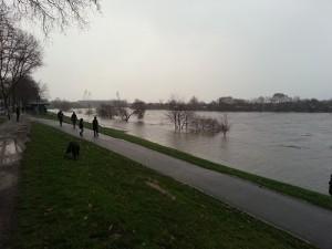 Sturm Xaver setzte Das Weserstadion fast unter Wasser. Foto: Stefan Hoffrichter