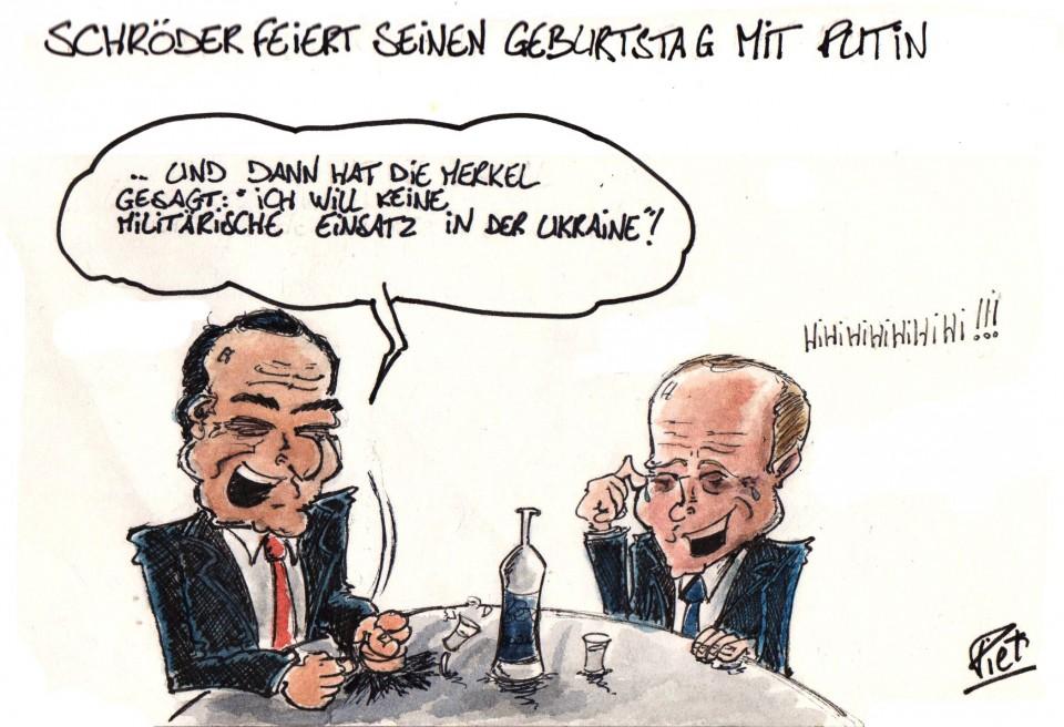 Schröder Geburtstag Pflicht