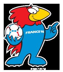 Footix Maskottchen 1998 in Frankreich