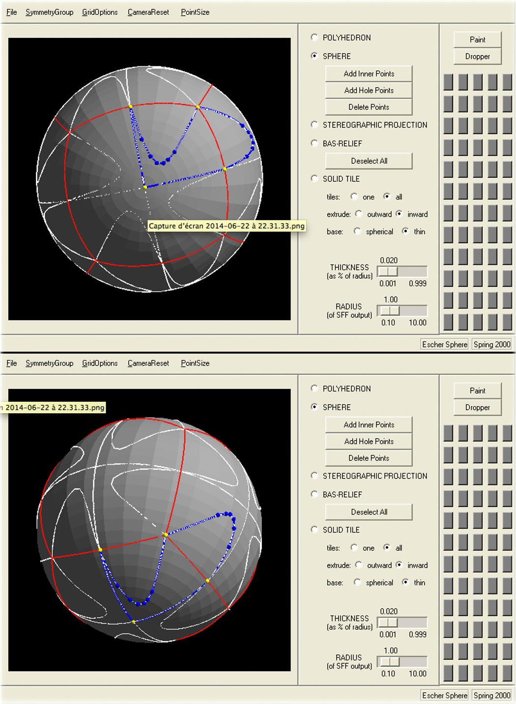 Die Gestaltung von Brazuca mit Escher Sphere. Foto: Pierre-Jean Guéno