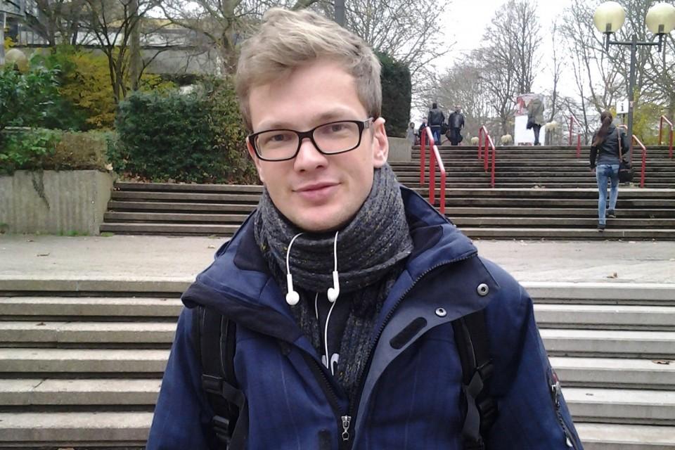 Lukas, 23, studiert Wirtschaftswissenschaften