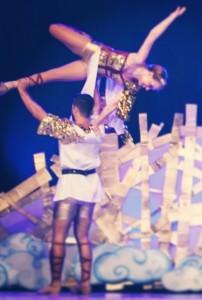 Ausgeschaltete Gravitation: Hebefigur beim Showdance