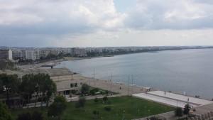 Ein Blick über Thessaloniki: Auch hier wählten die Bürger größtenteils die Partei von Alexis Tsipras. Foto: Leonidas Exuzidis