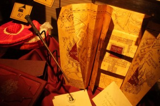 Ausstellungsstücke aus der Harry Potter Ausstellung.