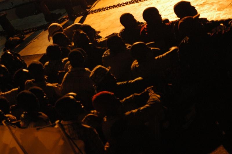 Flüchtlinge erreichen Lampedusa. Foto: Sara Prestianni/ storie migrante/ Noborder Network