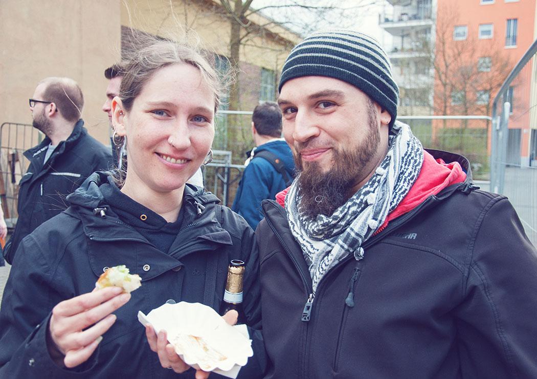 Die Festival-Besucher Kathrin und Micha.