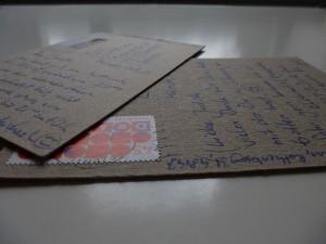 Analog statt digital: Verabredung per Postkarte (Fotos: Judith Koch)