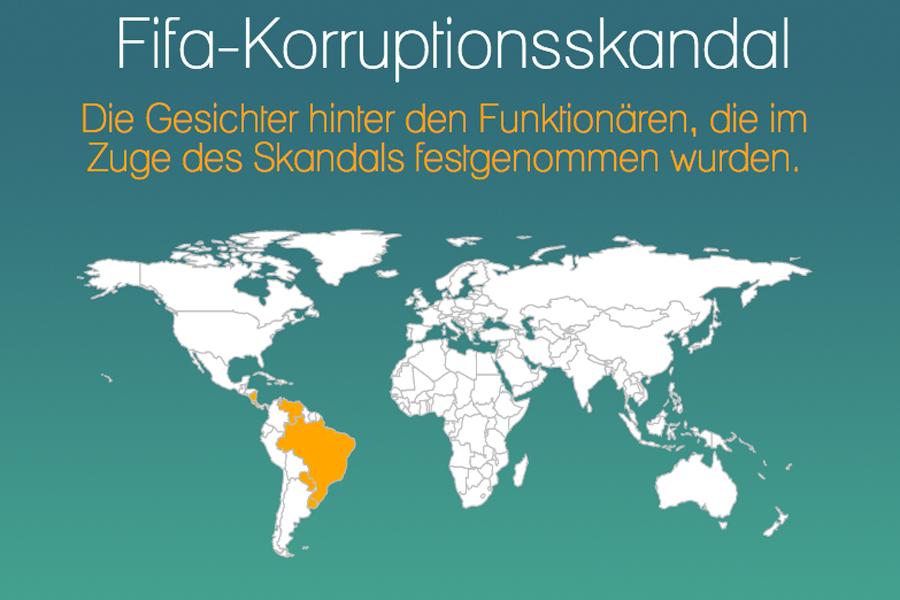 Die Grafik am Ende des Textes zeigt eine Übersicht zu den Funktionären im Fifa-Korruptionsskandal. Foto: Christopher Stolz