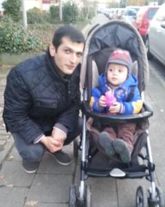Levon und sein Sohn David Foto: Levon
