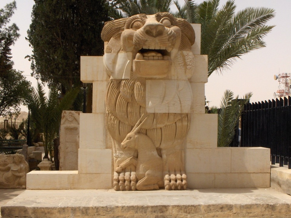 Lion in the garden of Palmyra Archeological Museum, 2010-04-21 by Mappo - Mappo. Licensed under GFDL via Wikimedia Commons - httpcommons.wikimedia.orgwikiFileLion_i