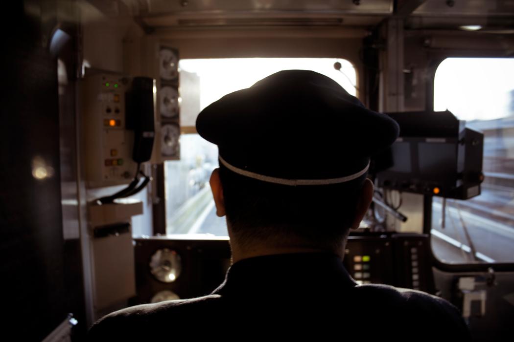So wie dieser Lokführer steht auch Mark jeden Tag im Cockpit. flickr.com/Coal Miki