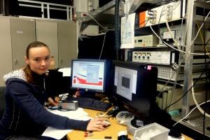 Elena Kozhemyakina konnte aufgrund des fehlenden Internets ihr Experiment nicht durchführen. (Foto: Anne Schubert)
