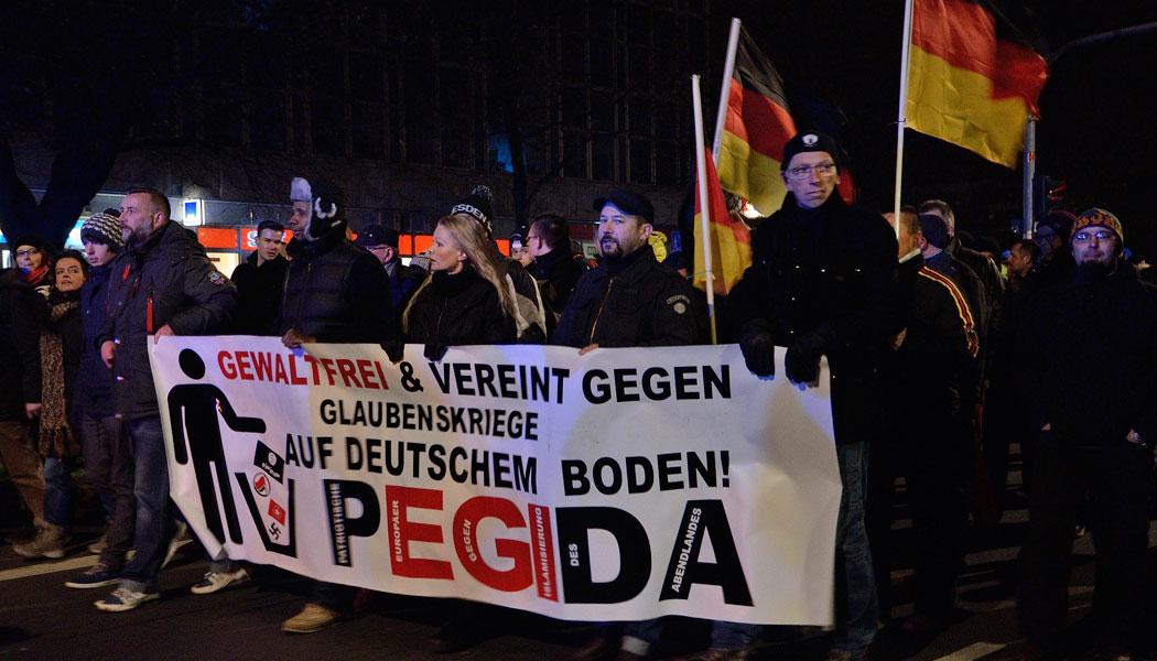 Auch am Geburtstag ziehen sie wieder durch Desden: die Pegida-Anhänger. Foto: Caruso Pinguin/flickr.com