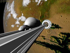Theoretisch ist ein Weltraumlift möglich. Foto: https://www.flickr.com/photos/flyingsinger/