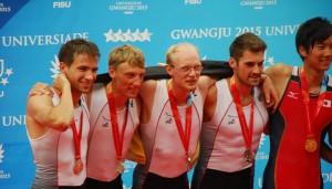 Silbermedaille für Deutschland: Stefan Wallat (2. v.l.) und sein Team. Fotos: adh/Ralf Bockelmann