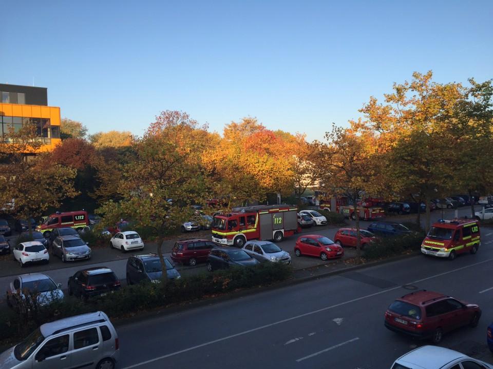 Dienstagmorgen um kurz vor 8 Uhr wurde im Mensa-Gebäude der TU Dortmund der Alarm ausgelöst. (Quelle: eldoradio*)