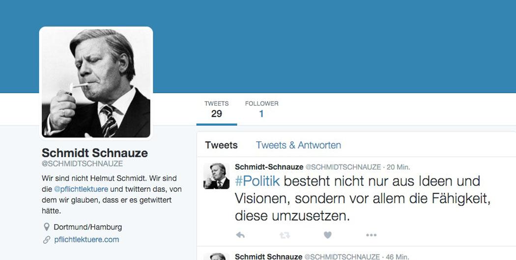 Helmut Schmidt Twitter