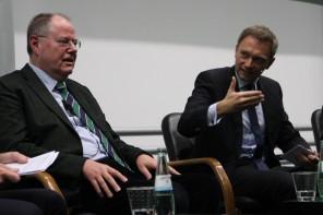 Startup-Symposium: Peer Steinbrück und Christian Lindner an der TU