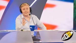 """Für """"ran NFL"""" im Einsatz: Florian Schmidt-Sommerfeld (links) mit Experte Patrick Esume"""