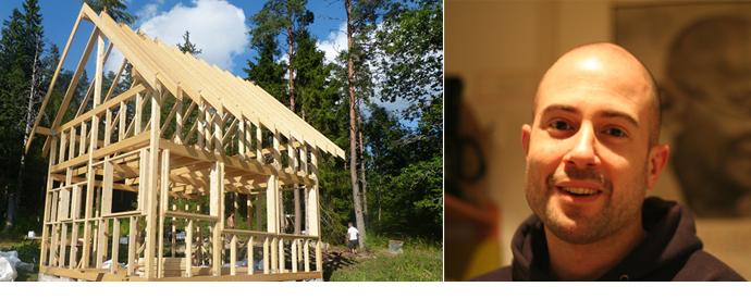 Das Haus von Martin in Südschweden während der Bauphase