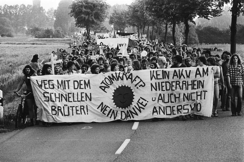Proteste gegen das Kernkraftwerk in Kalkar, 1979