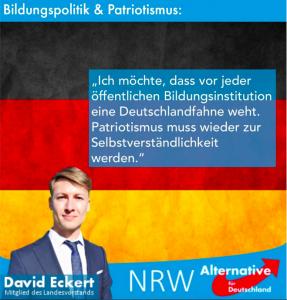 David Eckert ist das Aushängeschild der AfD- Hochschulgruppe Düsseldorf.