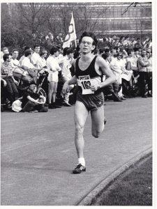 Das Batavierenrace am 24. April 1986: Uwe Ernst auf den letzten Metern.