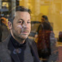 """Daniel Haeni (Häni) , Schweizer Unternehmer (Kaffeehaus """"unternehmen mitte"""") und Verfechter eines bedingungslosen Grundeinkommens (Wikipedia) , Basel am 23.02.2016"""