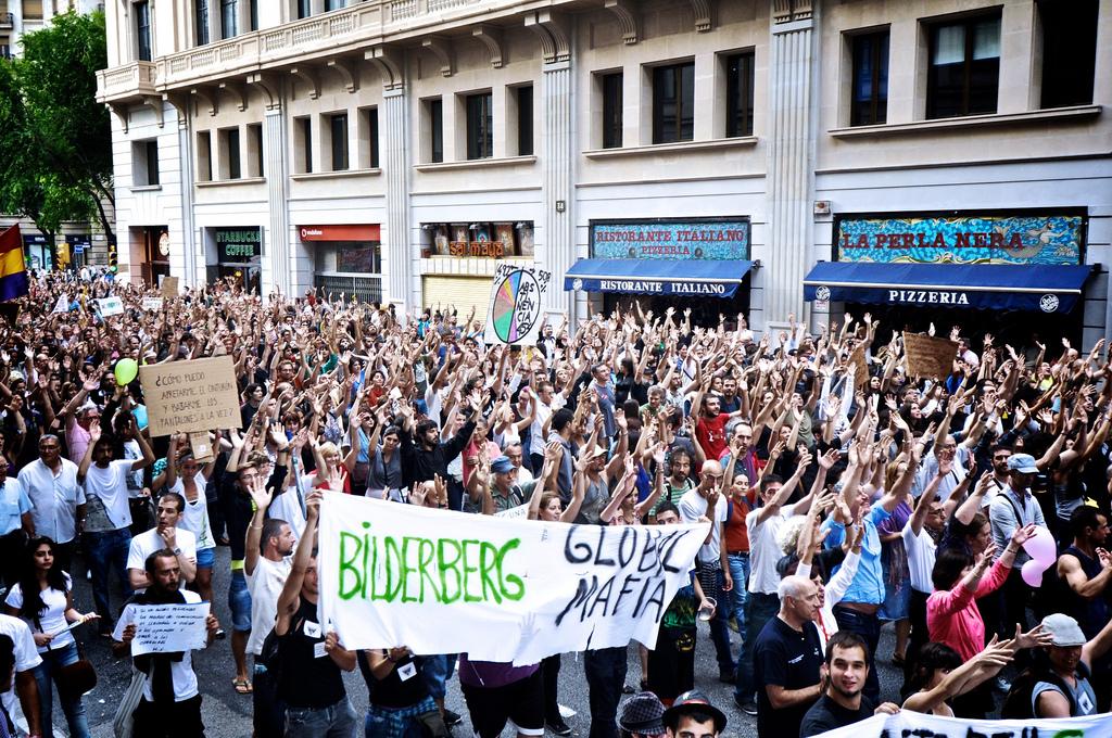 Proteste begeiten oft die Bilderberg-Konferenzen.