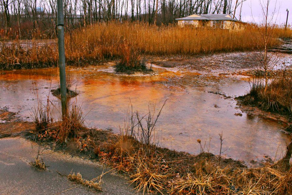 Saure Abwässer aus Kohlminen