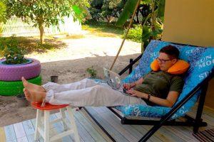 Silke bei der Arbeit in Thailand