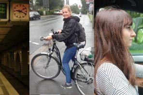 Bahn, Bus oder Fahrrad – Wie geht´s am schnellsten zur Uni?