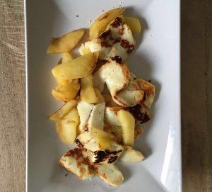 Apfel-Halloumi-Snack