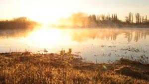 Naturidylle pur: der Lanstroper See.