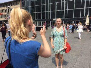 Melanie - für den Dreh Ypsilons Kamerafrau.