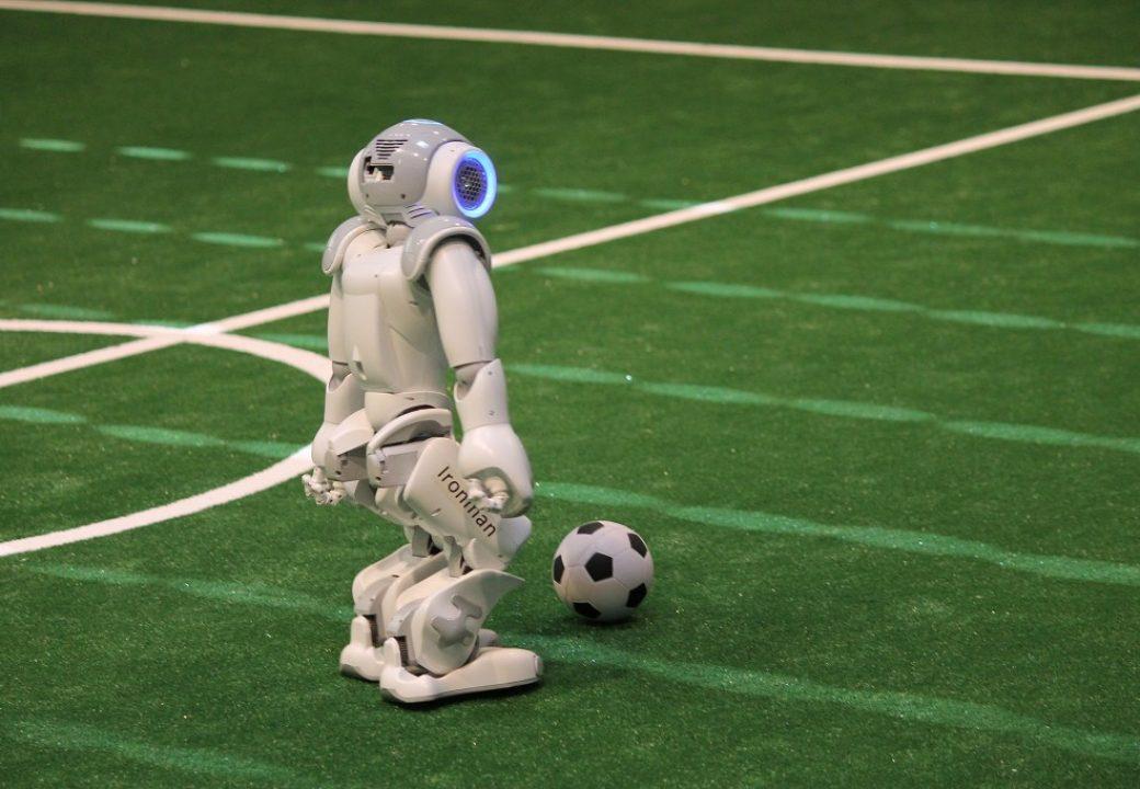 Der Roboter erkennt den Ball …